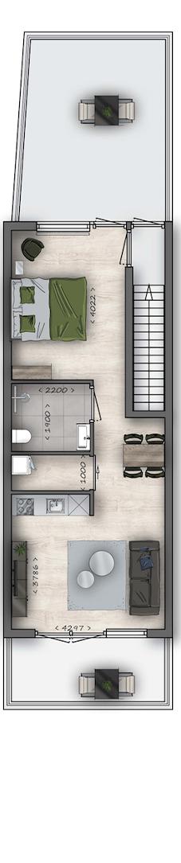 Apartment Eindhoven - Rechtestraat 65C Floorplan