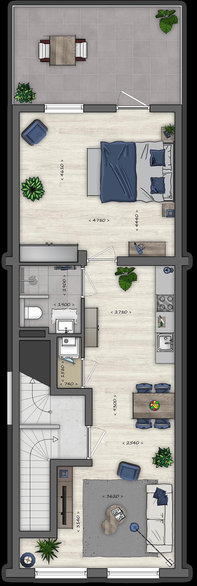 Floor Plan Tiel - A